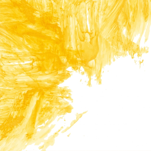 Modern yellow watercolor background Free Vector