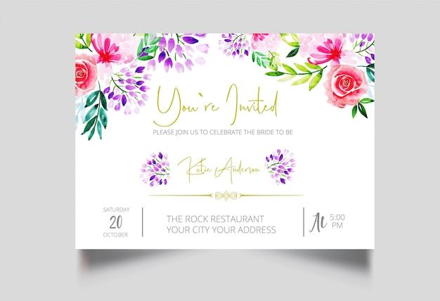Modern you're invited card design Premium Vector