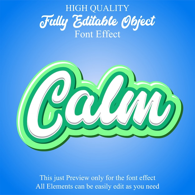 Modern young text style editable font effect Premium Vector