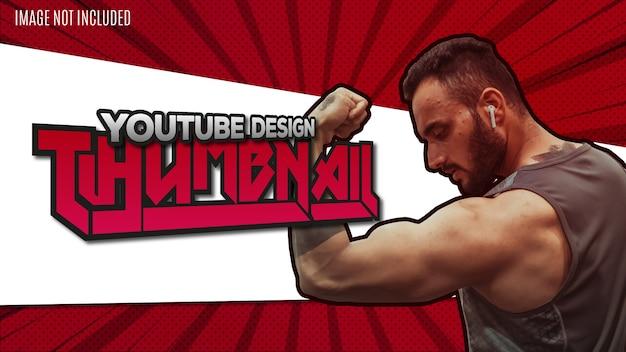 Modello di sfondo miniatura design moderno youtube Vettore gratuito
