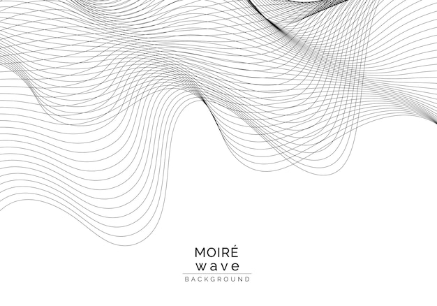 Moiré pattern background Free Vector