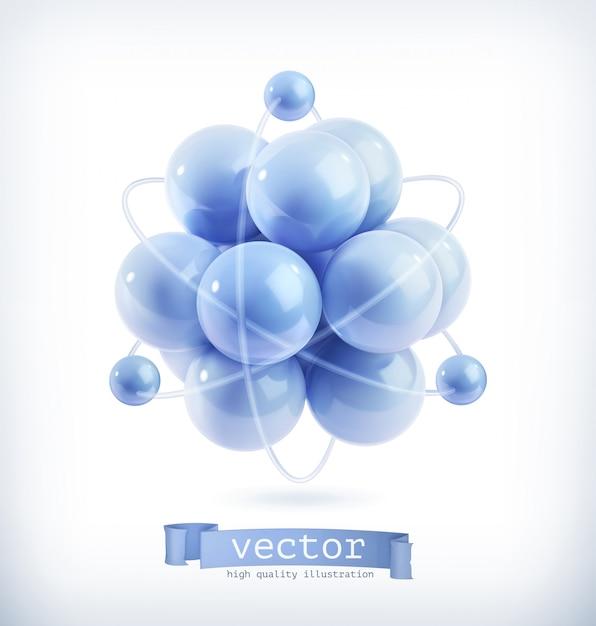 Молекула, векторные иллюстрации Premium векторы
