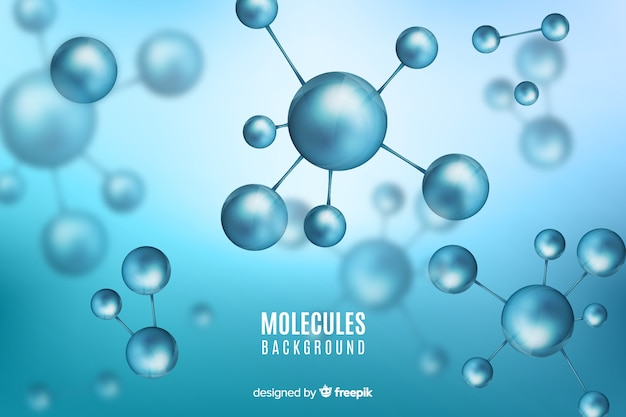 Molecules blurred background Free Vector
