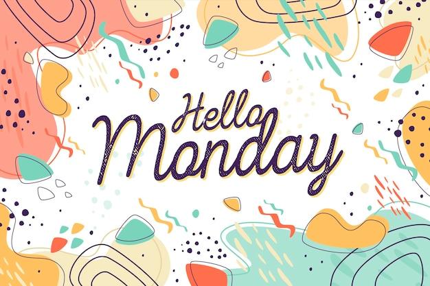 Понедельник - фон Premium векторы