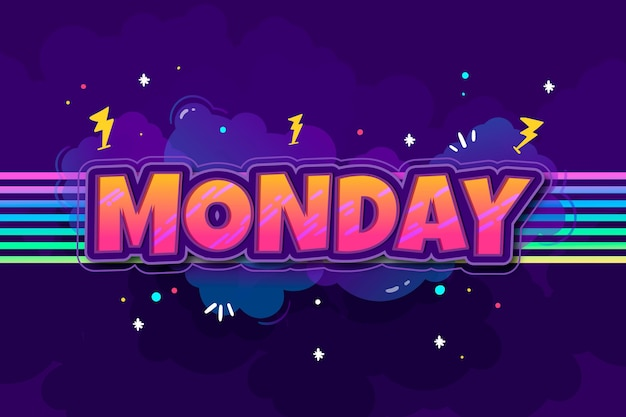 Lunedì - sfondo Vettore gratuito