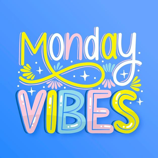 Понедельник - надпись Бесплатные векторы
