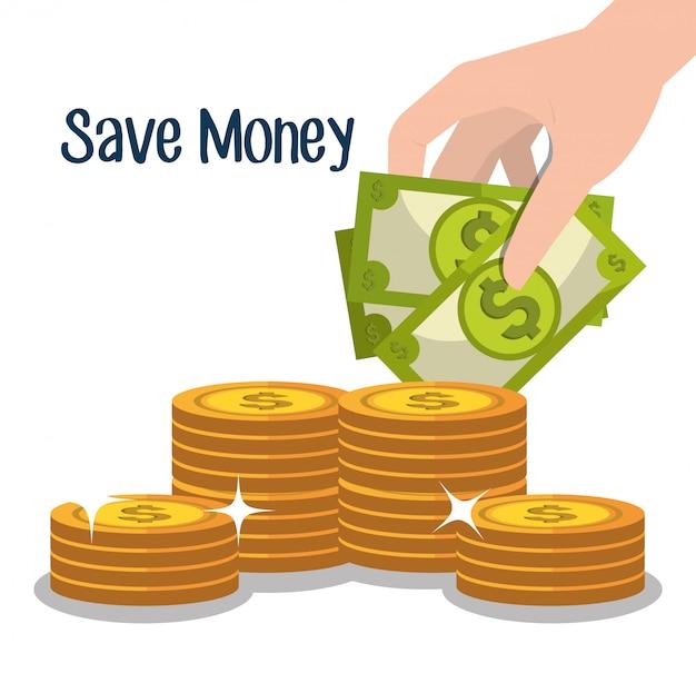 Деньги и бизнес инвестиции Бесплатные векторы