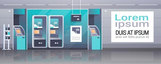 Money automatic teller machine Premium Vector