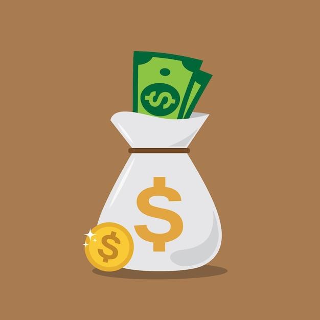Money bag background design