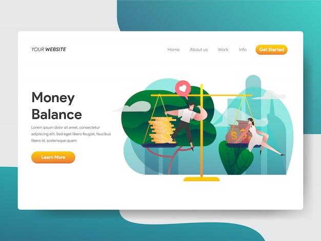 Иллюстрация баланса денег Premium векторы