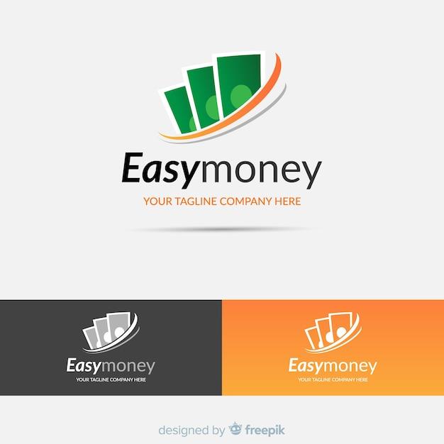 Money concept logo template Free Vector