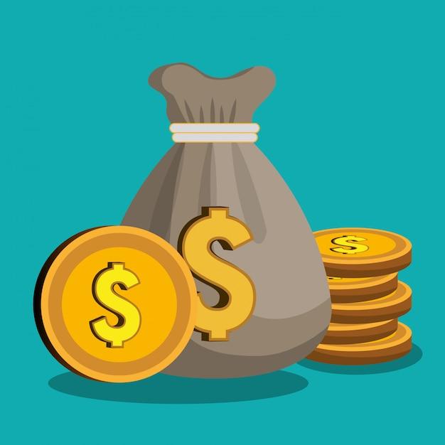 Concetto di denaro Vettore gratuito