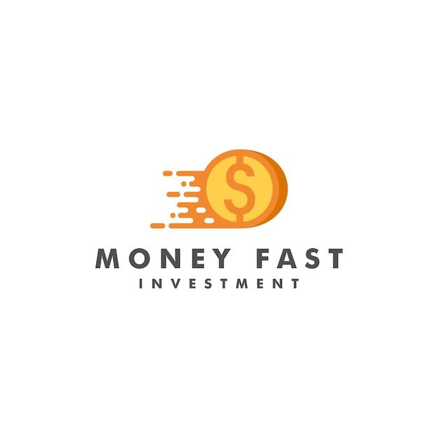 Money fast logo Premium Vector