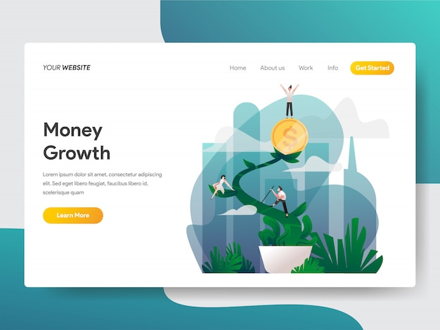 Money growth illustration Premium Vector