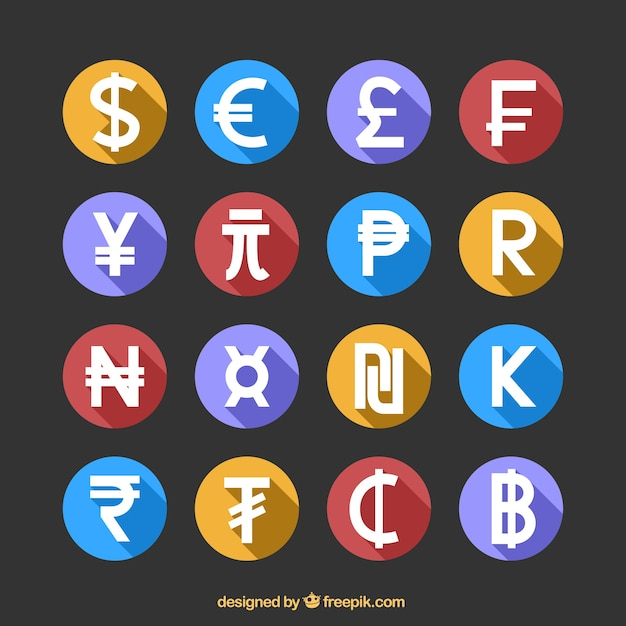 Money icon set Free Vector