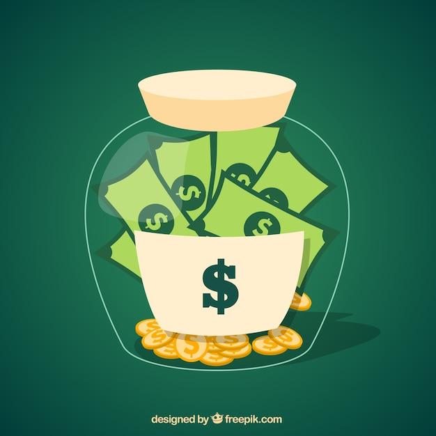 Money jar Free Vector