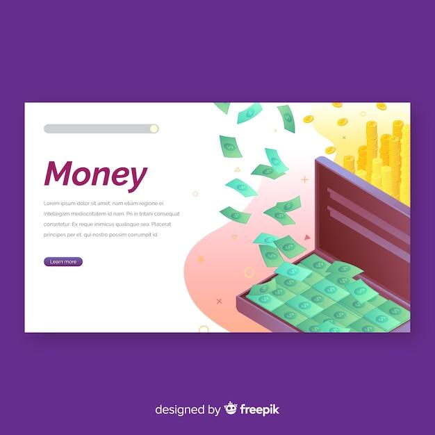 Целевая страница денег Бесплатные векторы