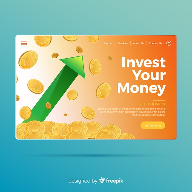 Money landing page Free Vector