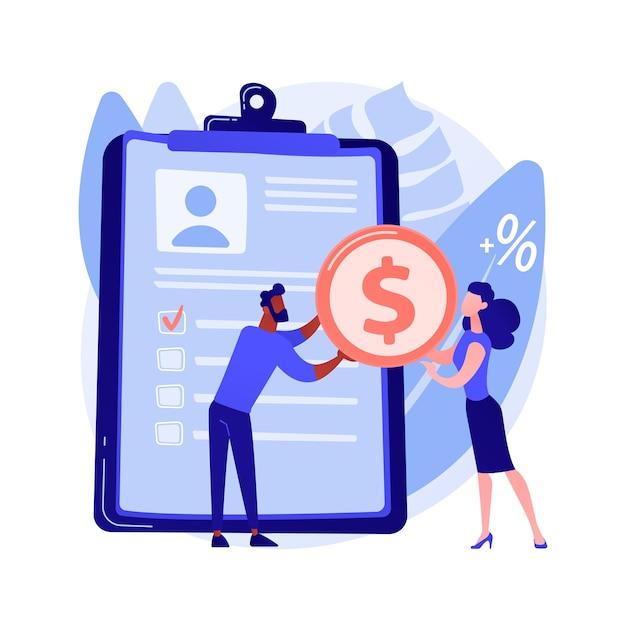 Money lending abstract concept Free Vector
