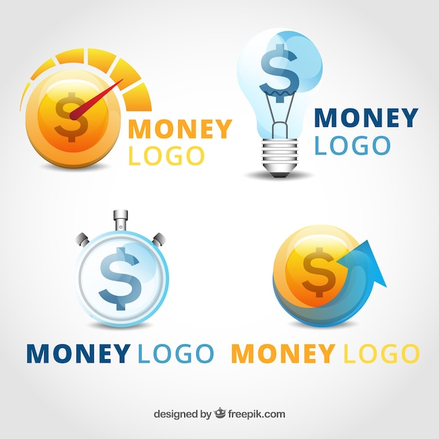 Money logo template collection Free Vector