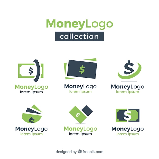 money logo template collection vector free download