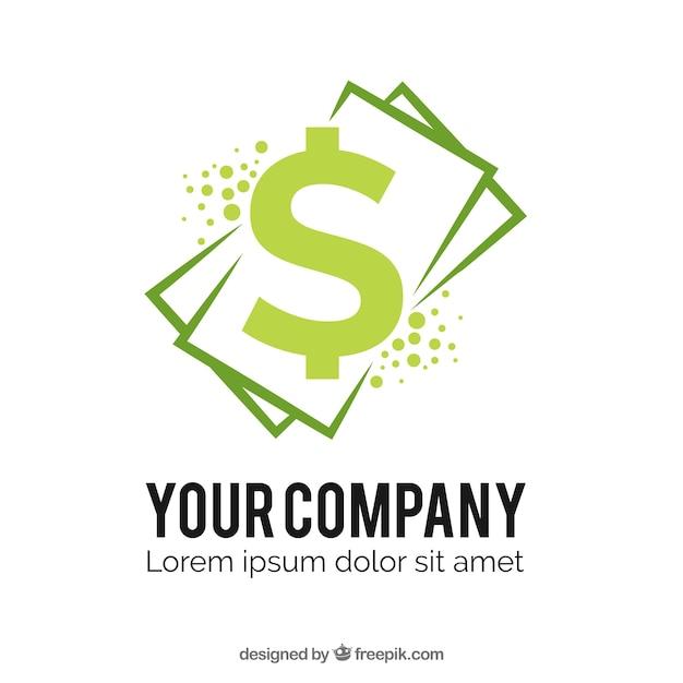 Money logo template with bills Free Vector