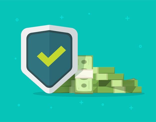 Защита денег, гарантии доверительного финансового страхования Premium векторы
