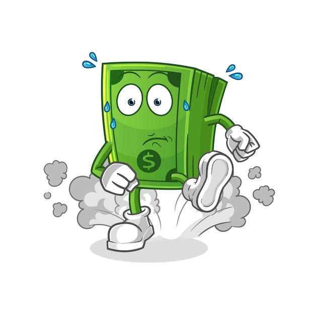 Иллюстрация денег работает. характер Premium векторы