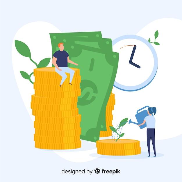 Money saving concept Free Vector