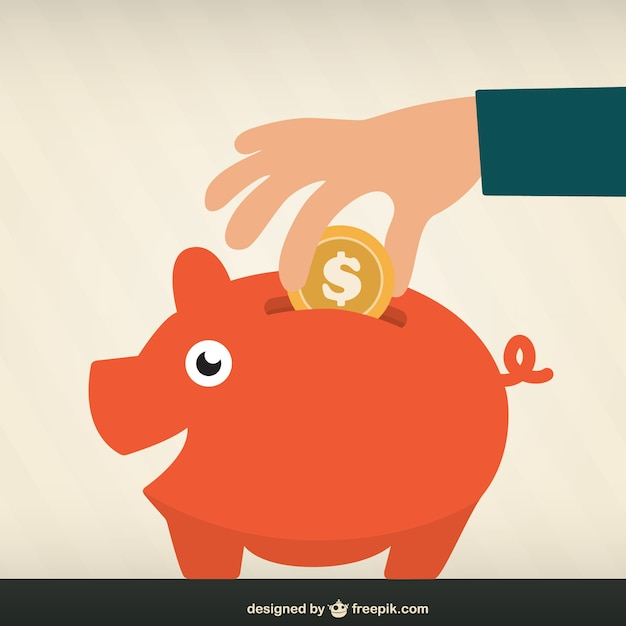 Money saving Free Vector