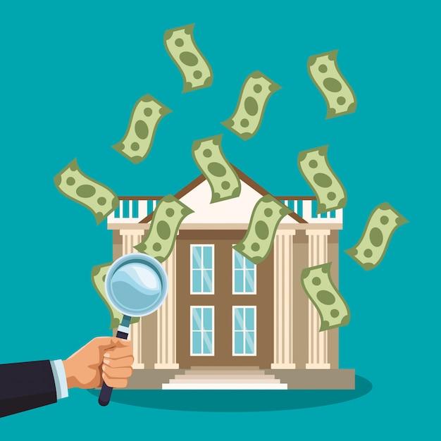 Money savings and investment Premium Vector