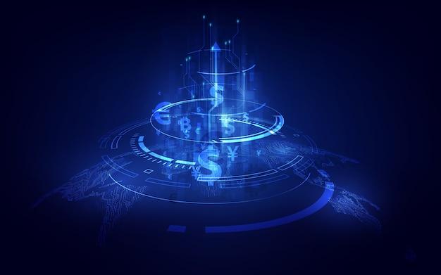 送金。グローバル通貨。証券取引所。 Premiumベクター