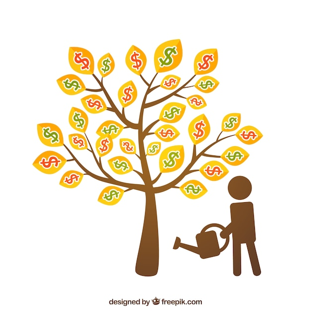 Money tree Free Vector