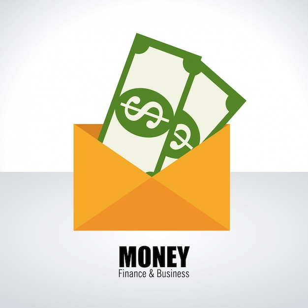 Money over white Free Vector