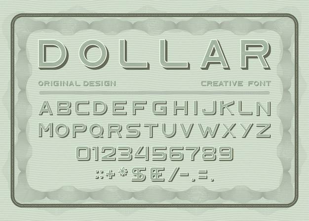 Стиль шрифта money Бесплатные векторы