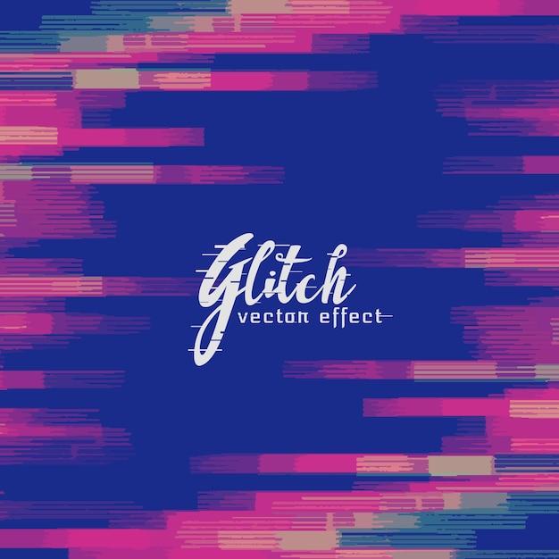 Monitor glitch background vector Free Vector