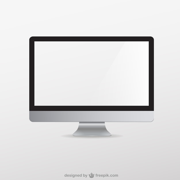 Monitor mock-up Free Vector