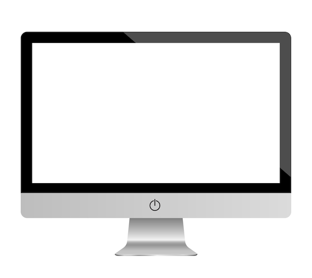 Monitor set mockup vector Premium Vector
