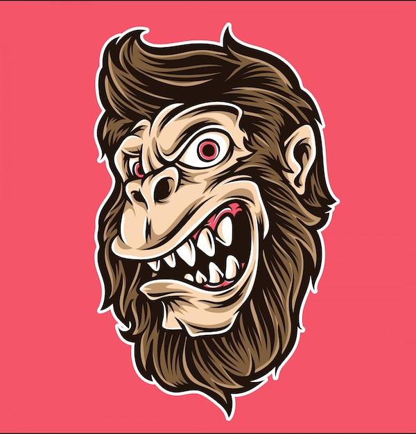 Monkey cartoon vector Premium Vector