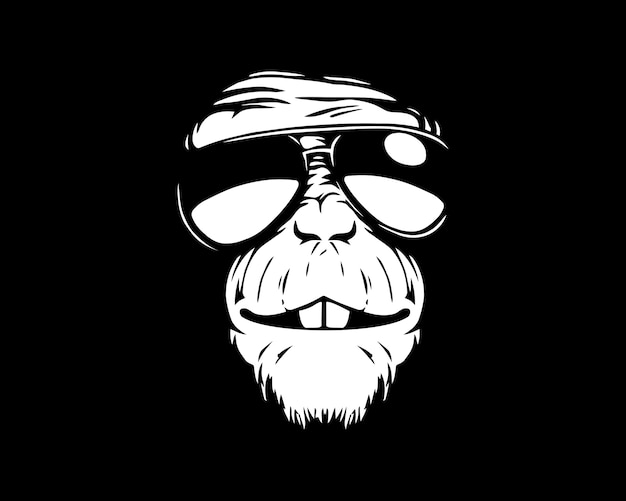 Monkey glasses Premium Vector