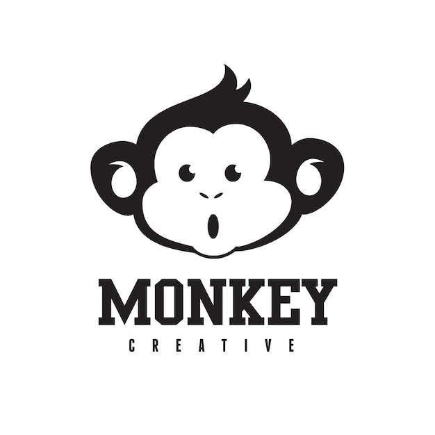 monkey logo chimp logo template vector premium download