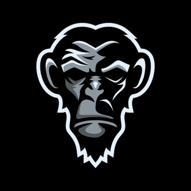 Monkey mascot logo Premium Vector