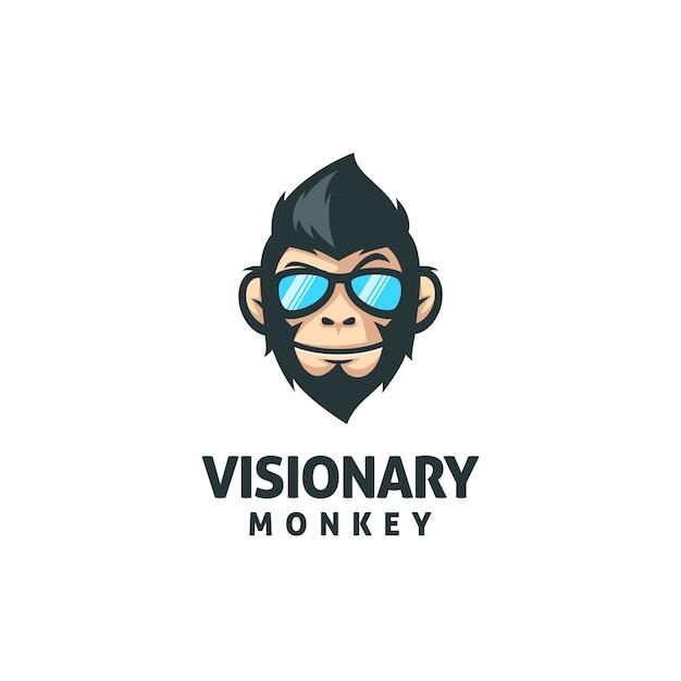 Monkey mascot vector template Premium Vector