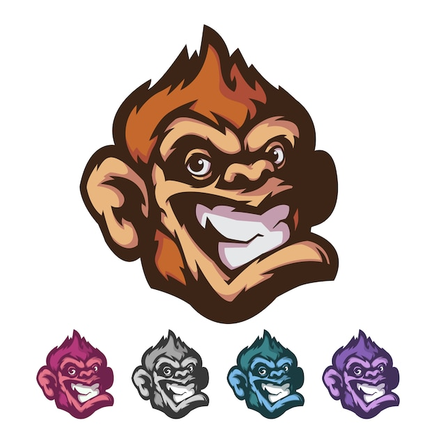 Monkey mascot Premium Vector