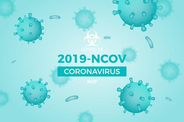 Sfondo monocromatico di coronavirus Vettore gratuito