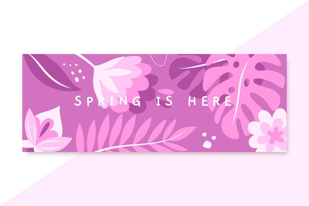 単色の春のfacebookカバー 無料ベクター