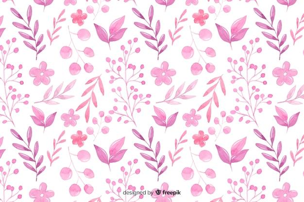 Sfondo floreale acquerello monocromatico Vettore gratuito