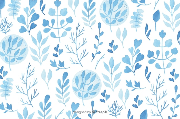 Monochromatic watercolor flowers background Free Vector
