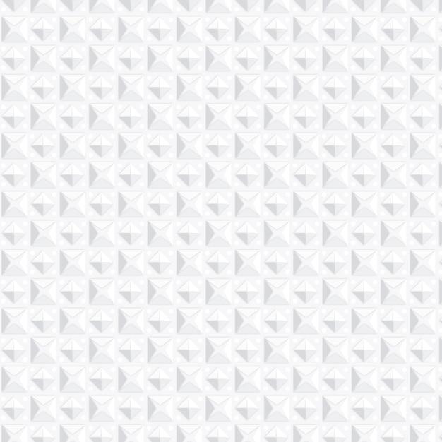 図形と単色の白いパターン 無料ベクター