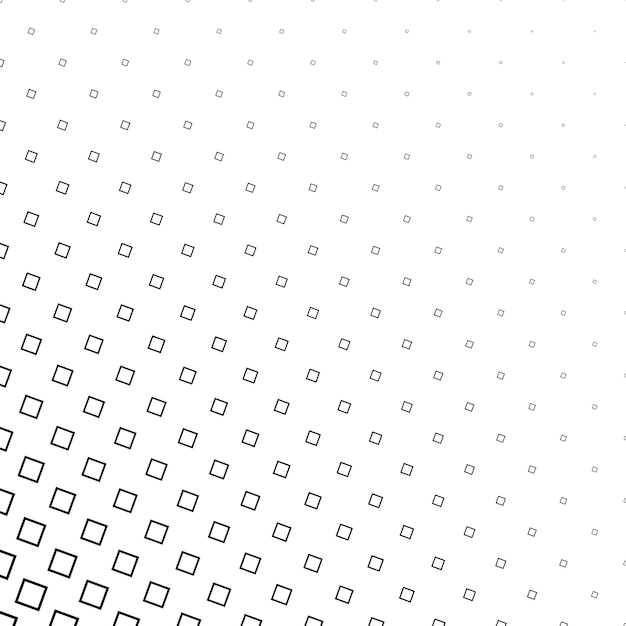 Monochrome abstract square pattern background - vector design Free Vector